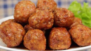 Sweet and Sour Meatballs with Lotus Root Recipe