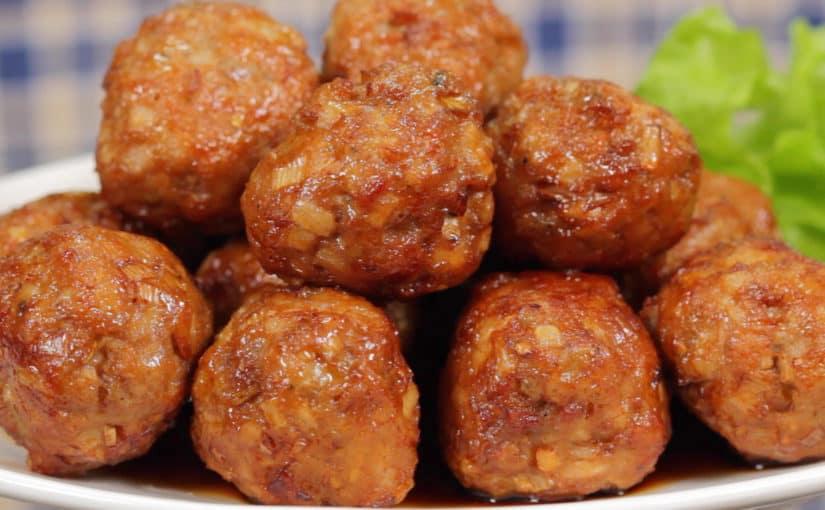 肉団子甘酢ソースれんこん入りの作り方 レシピ