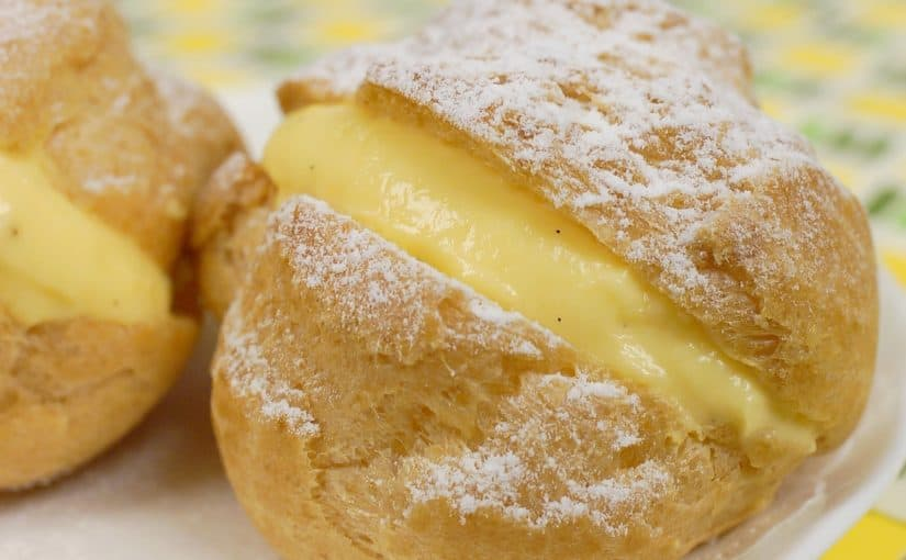 Cream Puffs with Exquisite Custard Filling Recipe (Crispy Choux Créme with Pastry Cream)