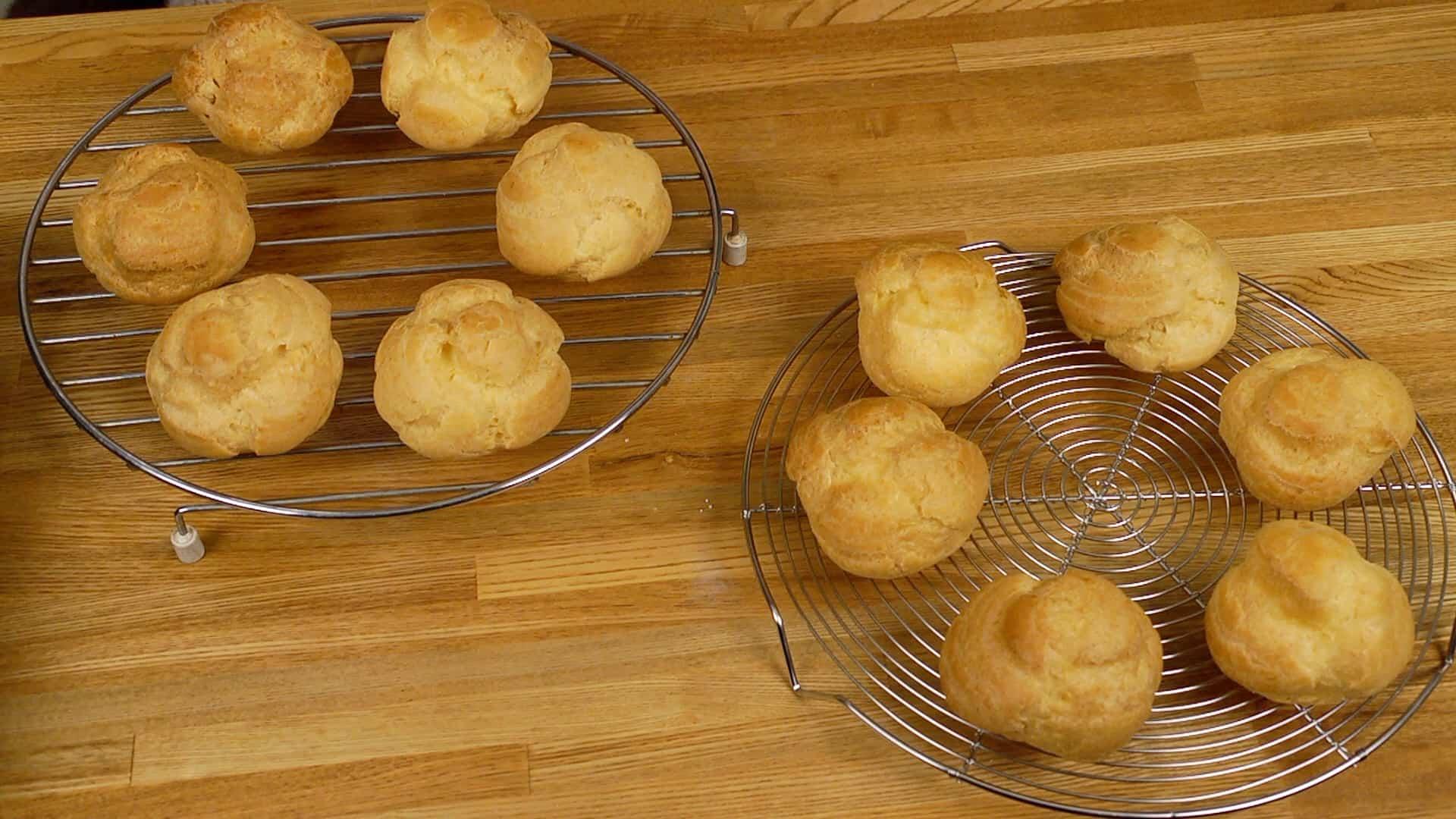 Công thức Bánh su kem với nhân trứng sữa tinh tế (Choux Créme giòn với kem  bánh ngọt) | Cooking with Dog