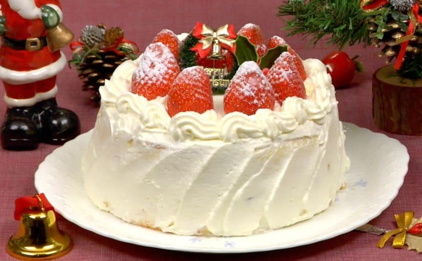 Christmas Cake Recipe (Strawberry Sponge Cake) – Cooking ...