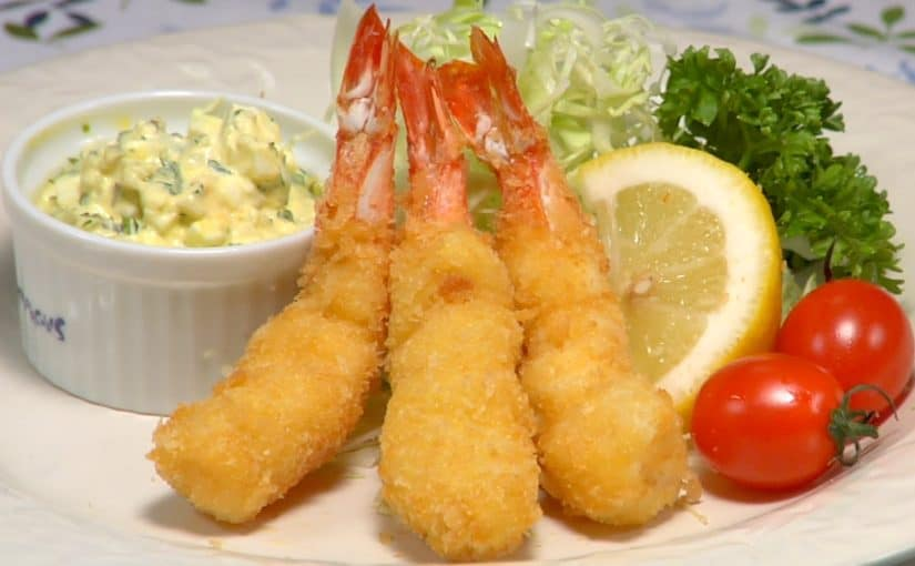 Ebi Fry Recipe (Deep Fried Breaded Prawns)