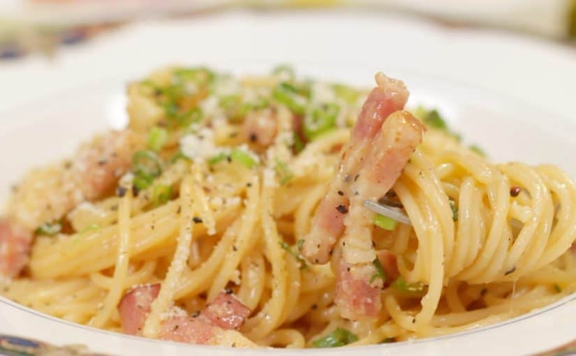 Spaghetti Carbonara (Japanese-inspired Pasta Recipe)