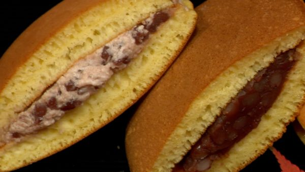 Serve the dorayaki on the plate.
