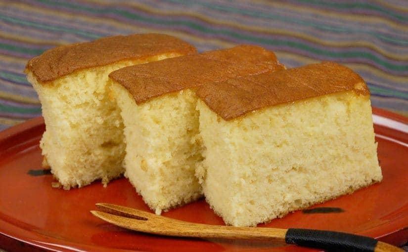 Castella (Kasutera Sponge Cake Recipe)