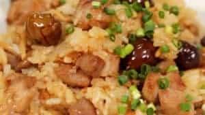 Chuka Okowa Recipe (Chinese-style Mixed Rice with Pork and Chestnuts)