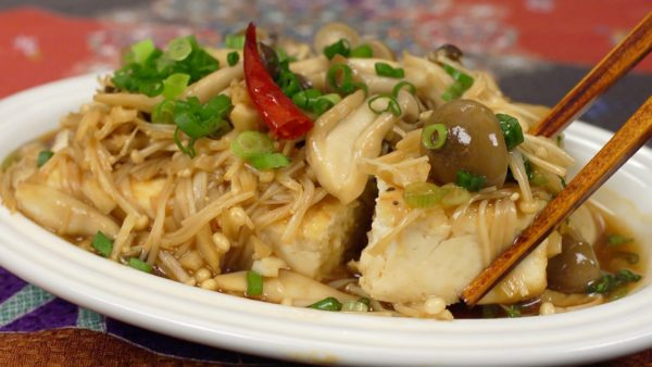 Tofu Steak with Mushroom Sauce Recipe