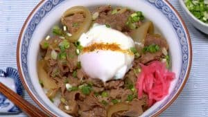 Gyudon Recipe (Delicious and Healthy Beef Bowl with Reduced Fat Content)