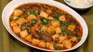 Mapo-Tofu-Rezept (Chinesisches Sizuan-Gericht mit Tofu und Schweinehack)