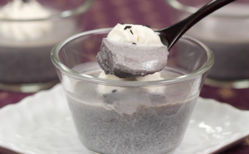 Black Sesame Pudding Recipe