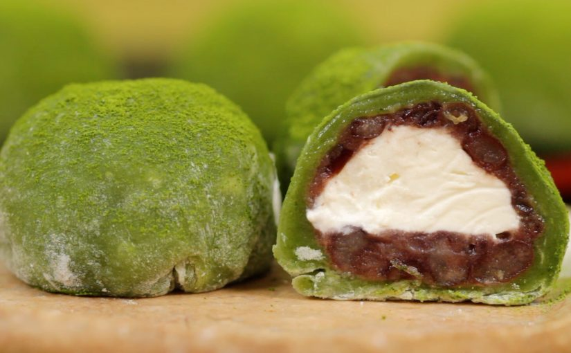 Matcha Cream Daifuku (Green Tea Mochi Dessert Recipe)