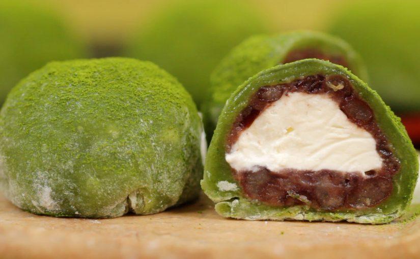 Matcha Cream Daifuku Recipe (Green Tea Mochi Dessert)