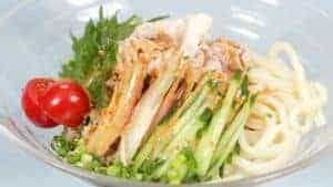 Summer Pork Udon Noodles with Sesame Sauce Recipe