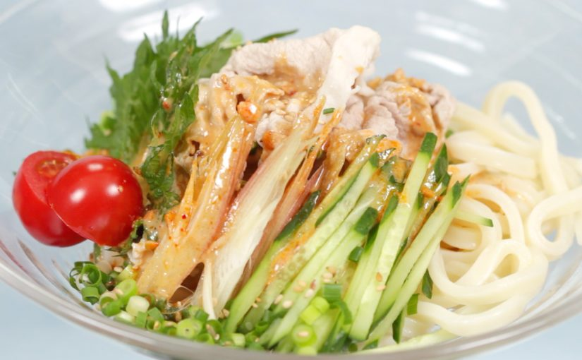 Summer Pork Udon Noodles with Sesame Sauce Recipe