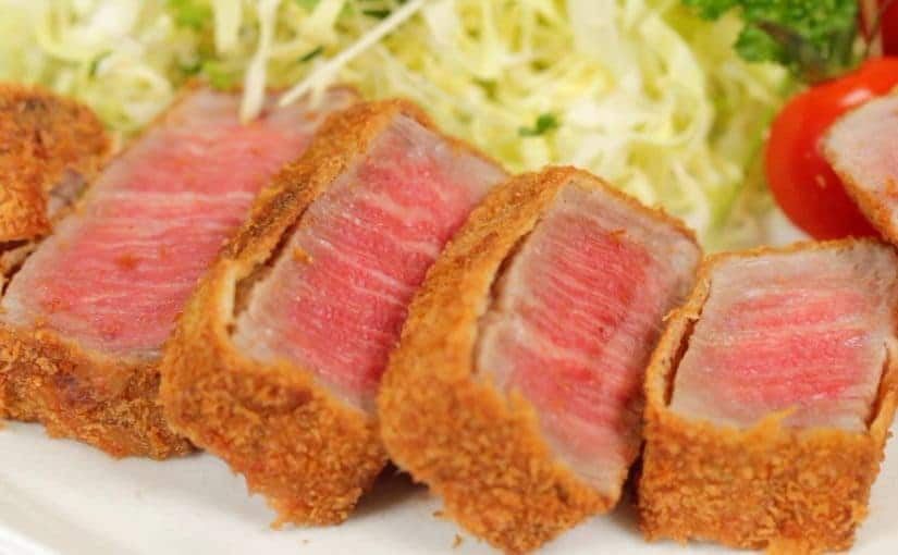 Gyukatsu (Deep-Fried Wagyu Beef Cutlets) Recipe with 2 Types of Dipping Sauce
