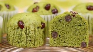 Matcha Mushipan Recipe (Steamed Green Tea Cake)