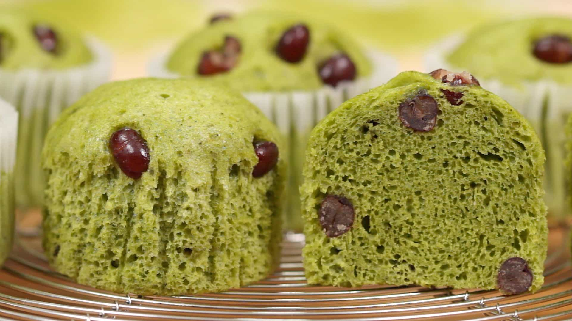 Steamed Green Tea Cake Recipe