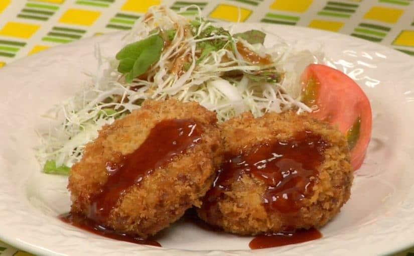 Menchi-katsu Recipe (Deep-Fried Breaded Ground Meat)