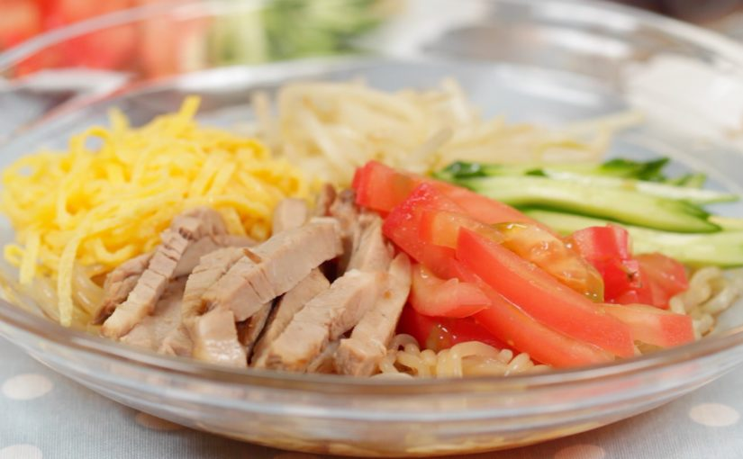 Low Calorie Hiyashi Chuka with Shirataki Noodles Recipe
