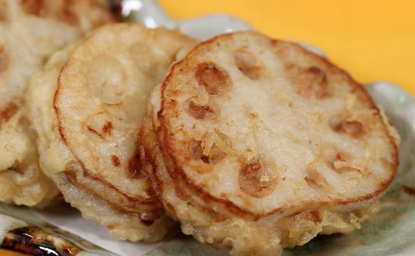 レンコンのはさみ揚げの作り方 レシピ