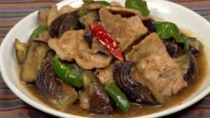 Miso Pork Stir-Fry with Eggplants and Bell Peppers Recipe