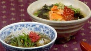 Ochazuke Recipe (Salmon Ikura Chazuke and Umeboshi Shirasu Takana Chazuke)