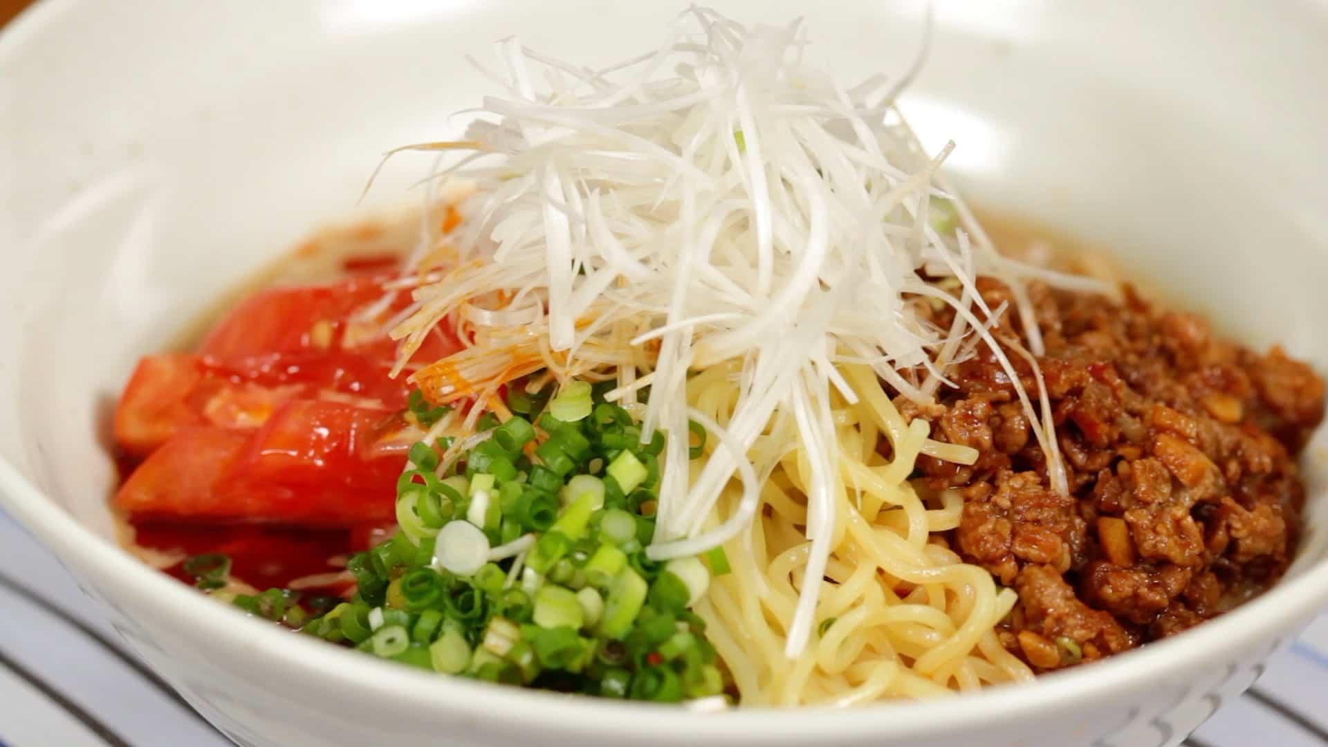 Hiyashi Tantanmen Recipe (Cold Dandan Noodles/Tantan Ramen)