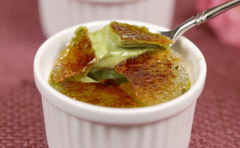 抹茶クレームブリュレの作り方 レシピ