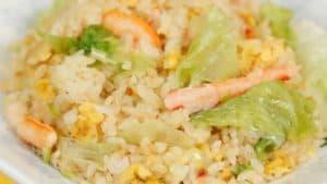 Crab Lettuce Chahan Recipe (Japanese Fried Rice)