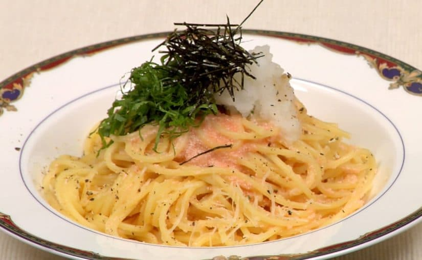 Mentaiko Spaghetti Recipe (Japanese Pasta with Spicy Marinated Pollock Roe)