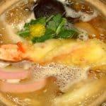 Nabeyaki Udon Noodles Recipe (Udon Hot Pot with Shrimp Tempura and Shiitake Mushrooms)
