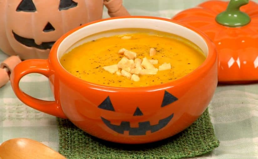 Pumpkin Potage Recipe (Delicious Halloween Soup with Sweet Kabocha Squash)