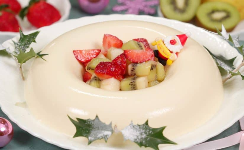 Bavarian Cream Recipe (Christmas Wreath Shaped Gelatin Dessert)