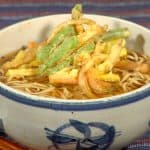 Kakiage Soba Noodles Recipe (Hot Soba with Mixed Vegetable Tempura)