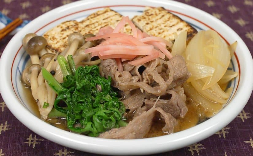 Niku Dofu Recipe (Nutritious Sukiyaki-style Simmered Dish with Beef and Tofu)