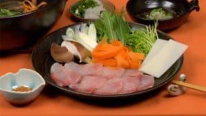 Buri Shabu-Shabu and Homemade Ponzu Sauce Recipe (Fresh Yellowtail Hot Pot with Mochi and Vegetables)