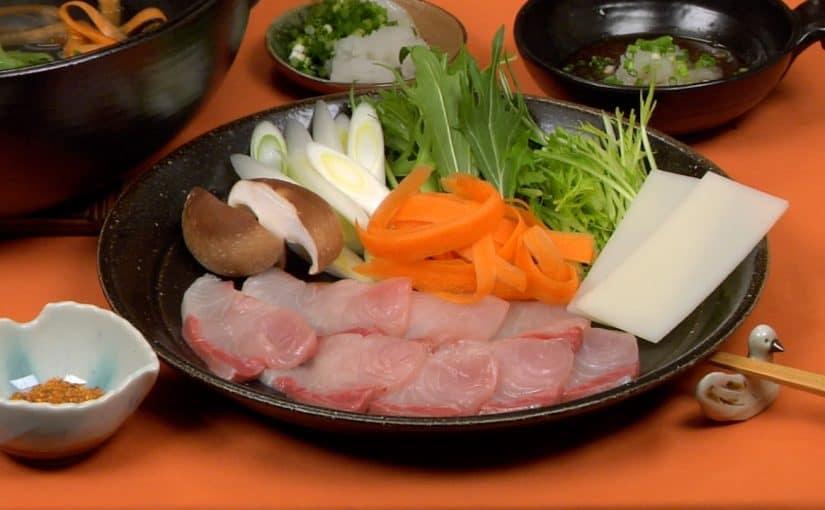 ぶりのしゃぶしゃぶと手作りポン酢しょうゆの作り方 野菜たっぷりお餅も入ったヘルシー鍋レシピ