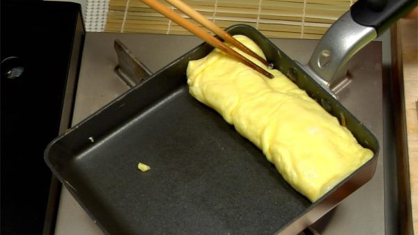 Repeat the same process to make the third layer of omelet.