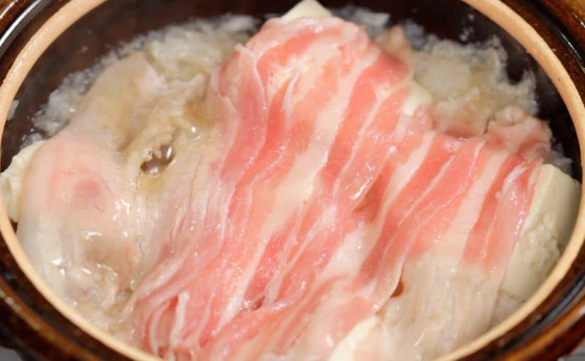Yukinabe Recipe (Grated Daikon Radish and Sliced Pork Hot Pot that is Very Easy on Your Stomach)