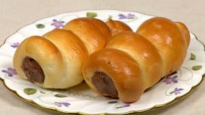 Chocolate Cornets Recipe (Cornet-Shaped Sweet Buns Filled with Chocolate Custard)