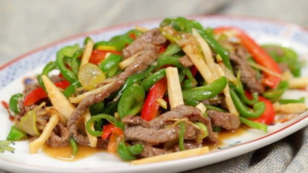 Pepper Steak Recipe (Chinjao Rosu with Beef and Vegetables)