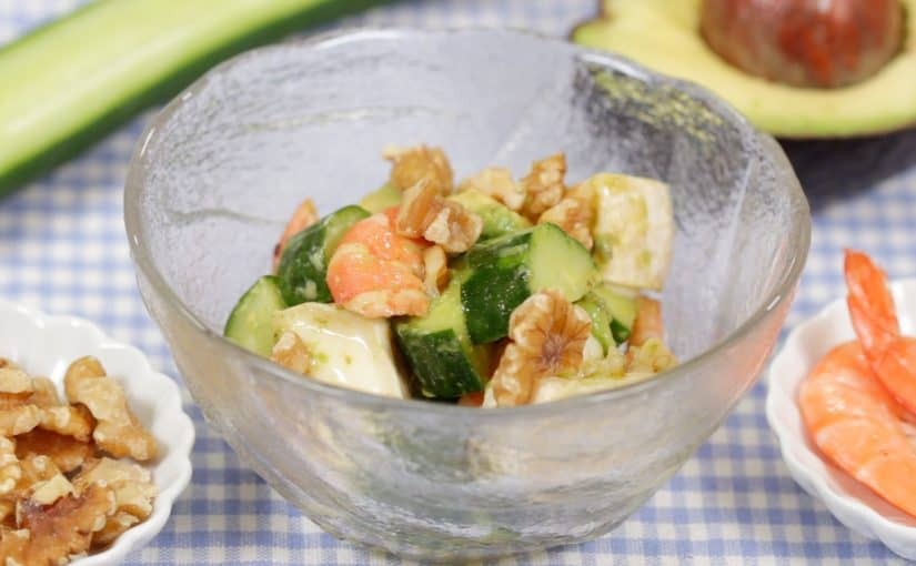 Shrimp Avocado Salad Recipe with Wasabi Soy-Based Dressing (Healthy Ingredients Will Keep You Beautiful)