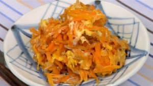 Ninjin Shirishiri Recipe (Carrot and Egg Stir-Fry in Okinawa Prefecture)