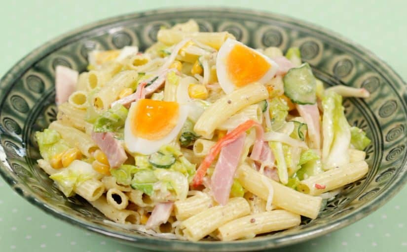 Macaroni Salad Recipe (Pasta Salad with Tender Cabbage and Mayonnaise)