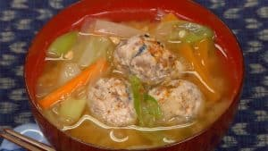 Sardine Tsumire-jiru Recipe (Miso Based Fish Ball Soup with Vegetables)