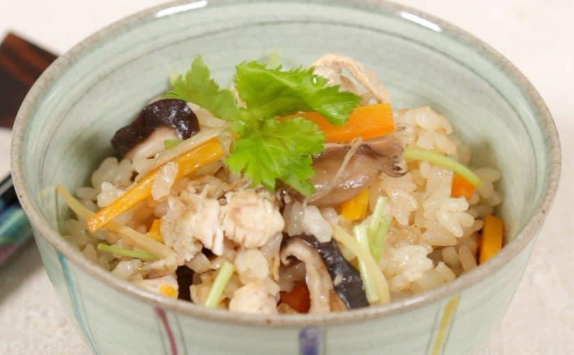 鶏ときのこの炊き込みご飯の作り方 炊飯器で炊く簡単レシピ