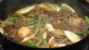Imoni Recipe (Yamagata-style Taro and Beef Imoni with Soy Sauce Base Broth)