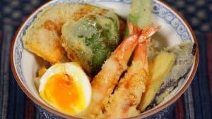 Shrimp Egg Tendon Recipe (Tempura Rice Bowl with Prawns and Vegetables)