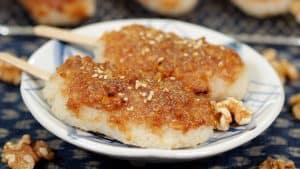 Gohei Mochi Recipe (Rice Cake with Sweet Walnut Miso Paste)