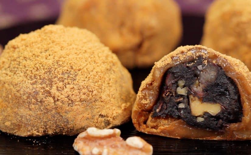 Walnut Daifuku with Sweet Sesame and Bean Paste Filling Recipe